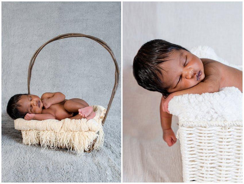 Newborn photo shoot at home in Johannesburg