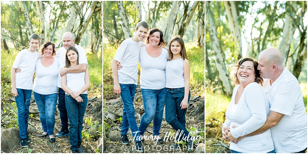 happy family parents and children photo shoot