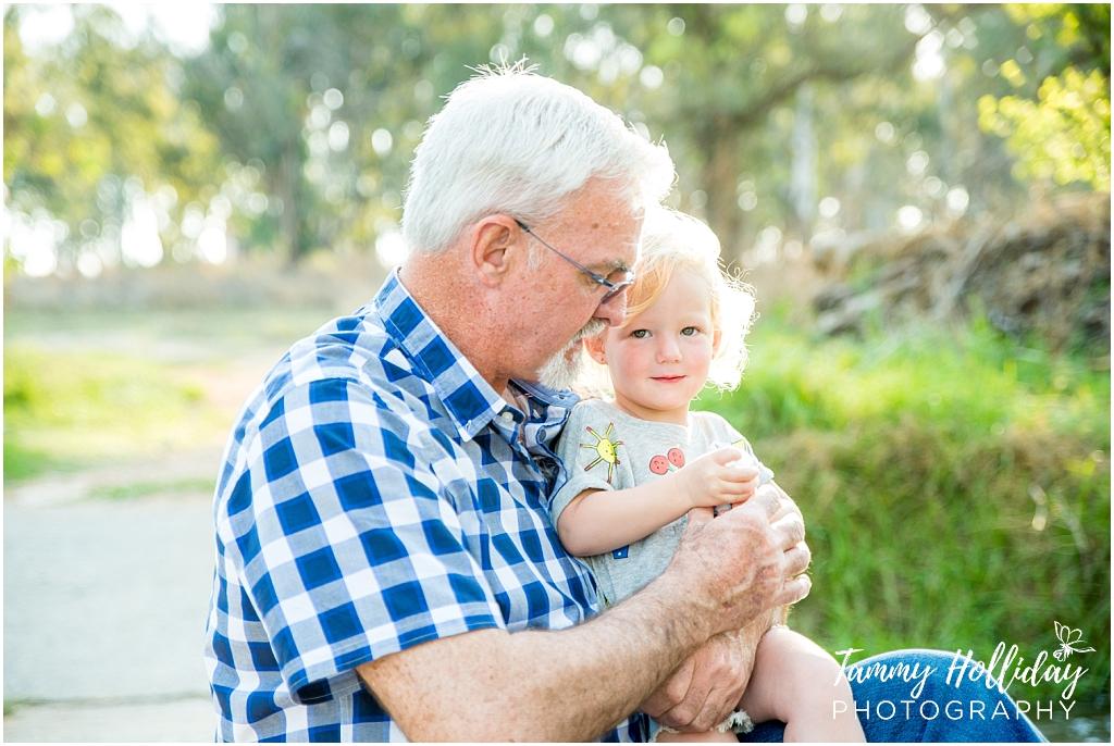 grand dad and grand daughter