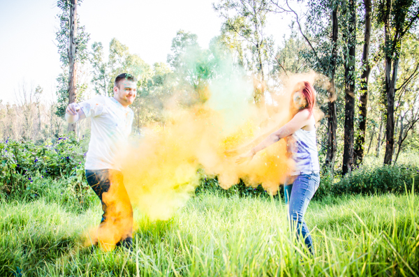 Coloured Powder shoot, Couple powder shoot, powder shoot ideas, East Rand Photographer
