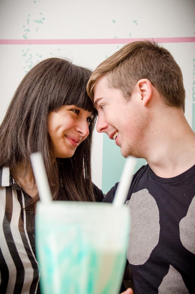 Greenstone, ice-cream shoot, Couple photography, cute couple drinking milkshake, Modderfontein photographer, couple poses