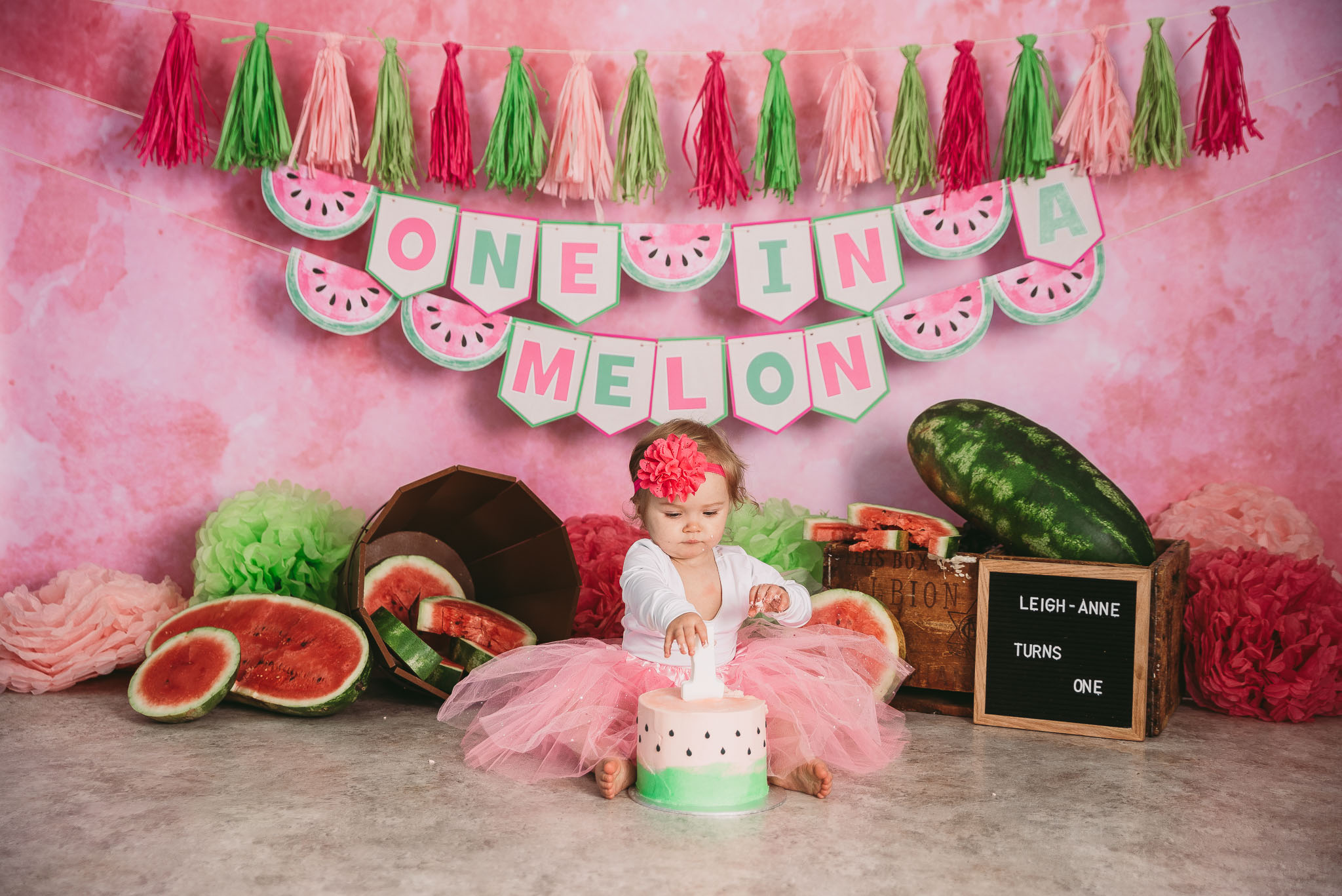Watermelon, one in a melon themedcake smash photo shoot Johannesburg and Pretoria, Midrand Studio