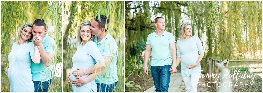 Maternity session in between the willows in Bokburg