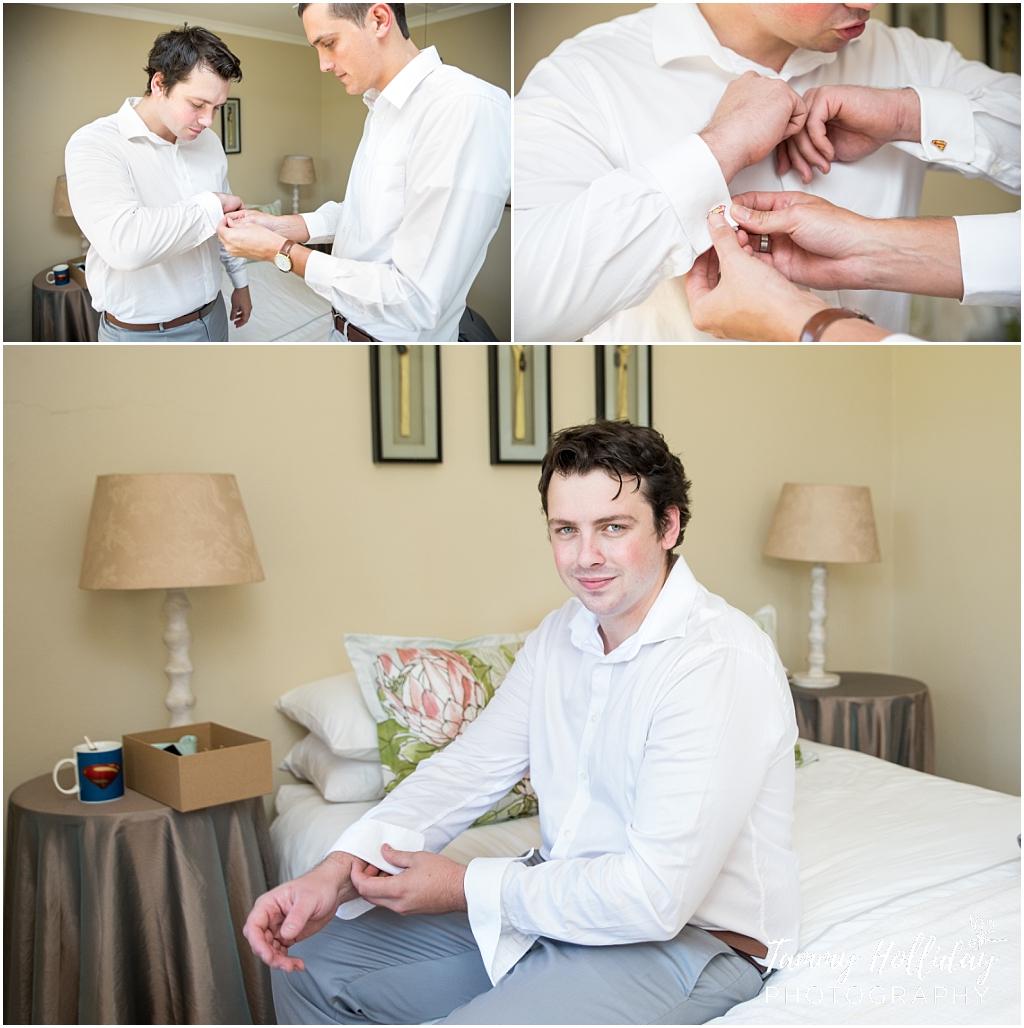 groom getting ready photograph