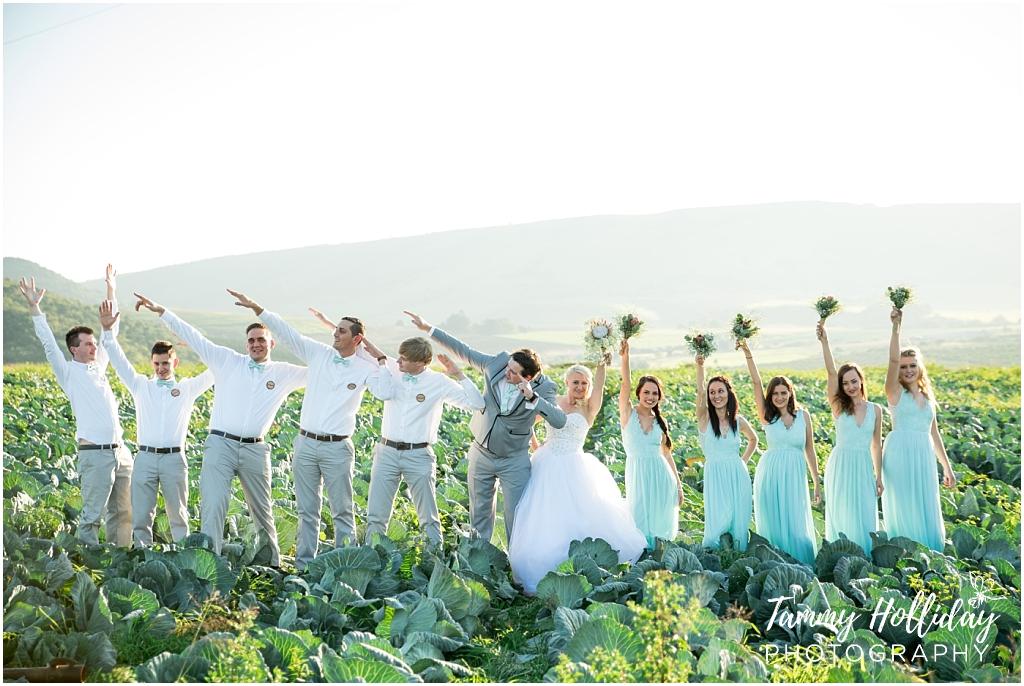 Bridal PArty having fun at a midlands wedding