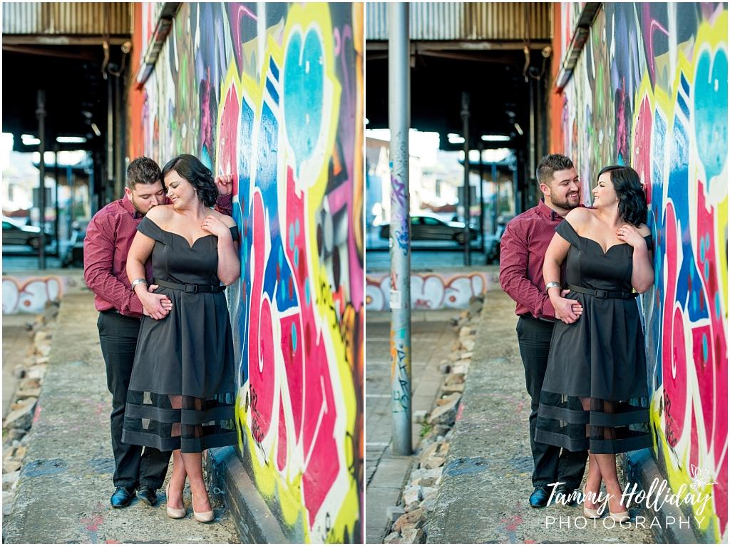 bright coloured graffiti couple shoot