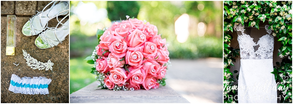 bride pink bouquet