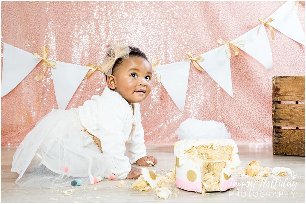 1st Birthday Cake Smash Studio Photo Shoot Tammy Holliday